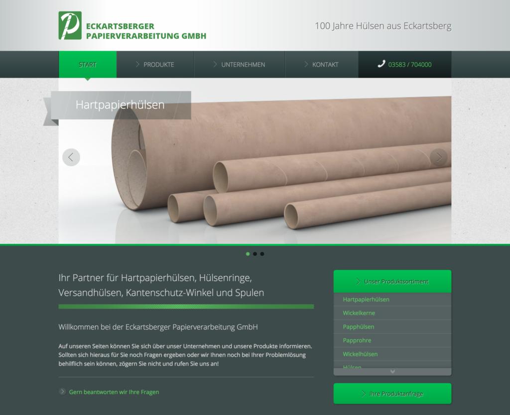 Webdesign Eckartsberger Papierverarbeitung GmbH